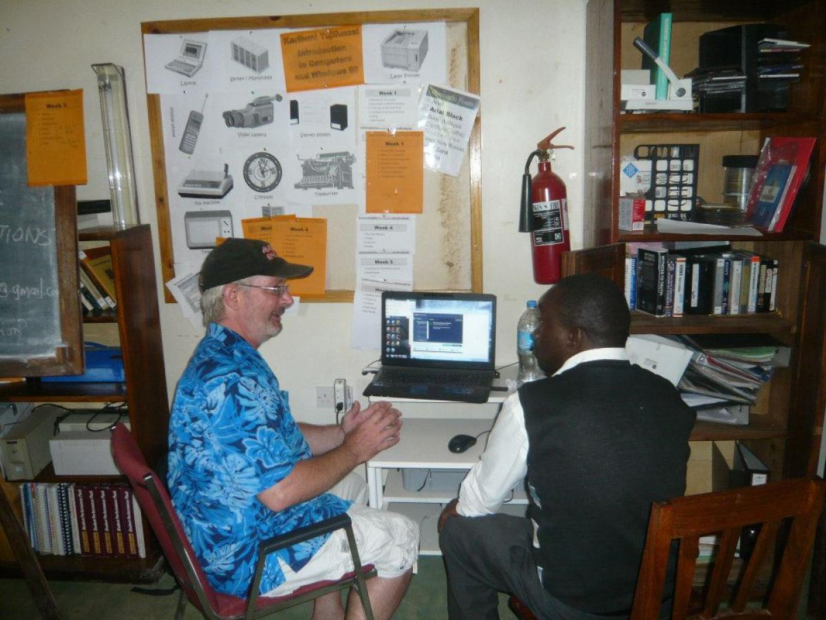 myself and local teacher developing program
