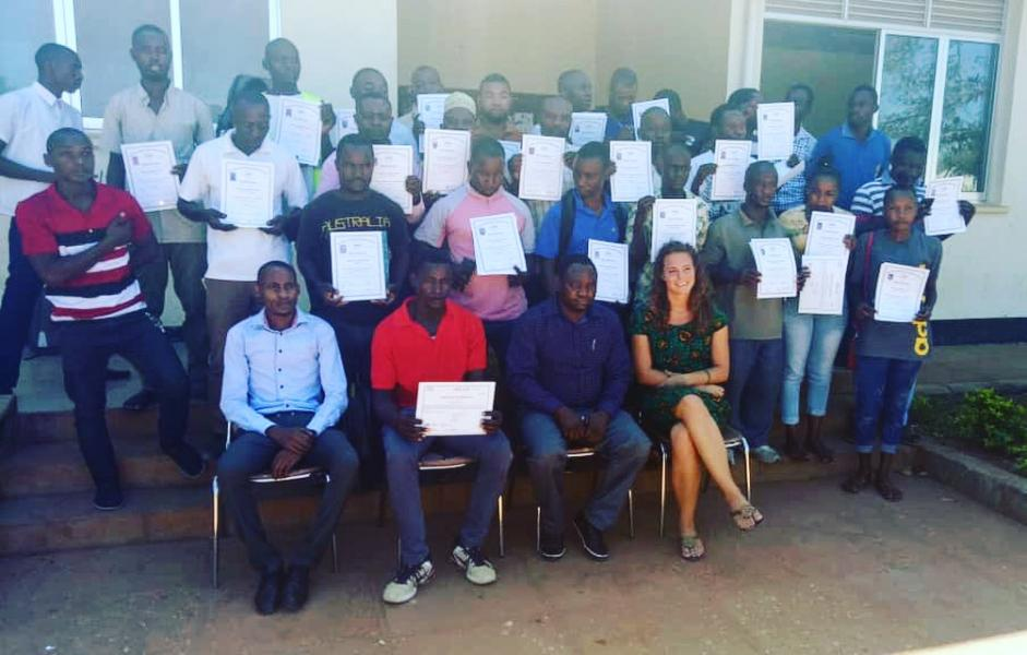 Giving certificates to short course students