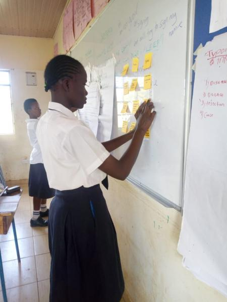 Pupil at a SRHR Session