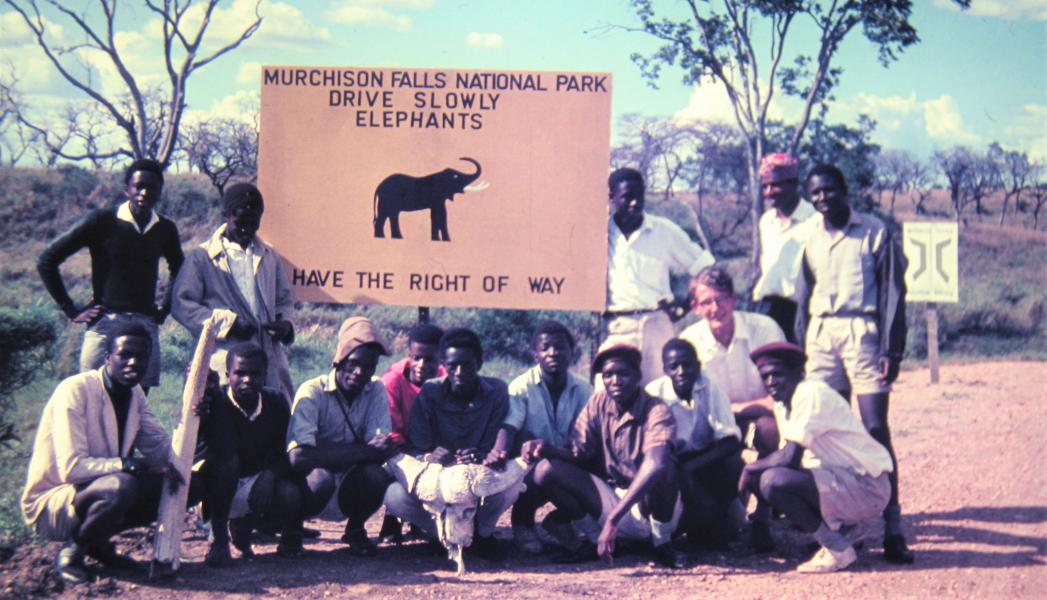 The Exploration Society's trip to Murchison Falls National Park; Peter Hill is on the right