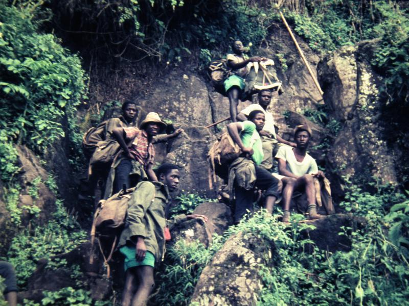 Climbing Mount Elgon in the east of Uganda
