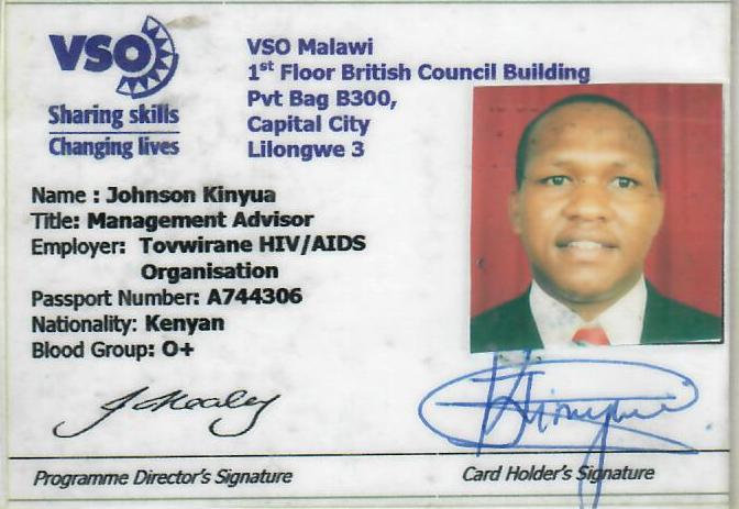 My Identity Card in Malawi
