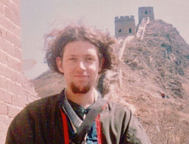 Anthony visiting the Great Wall