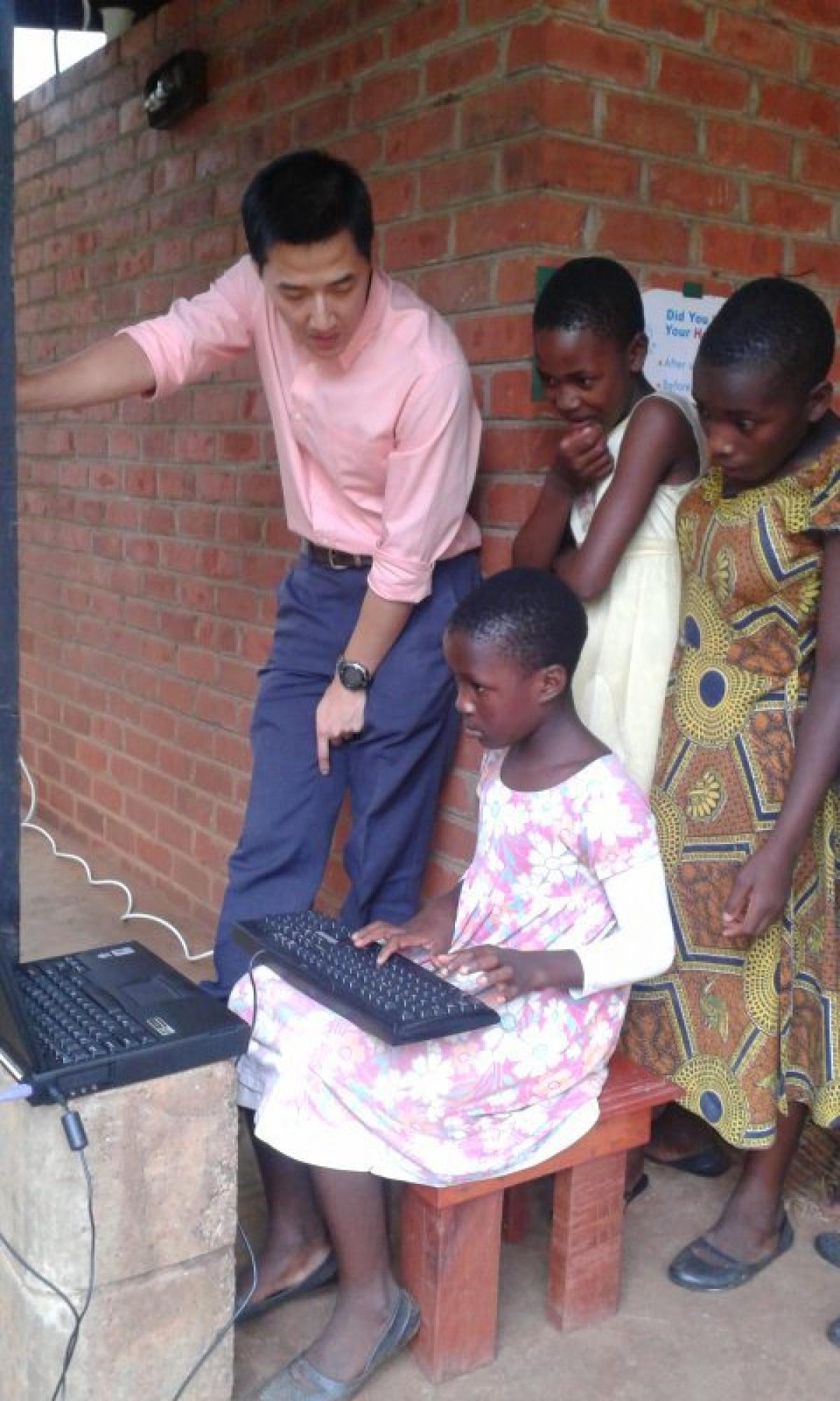 Learning to type with the local kids
