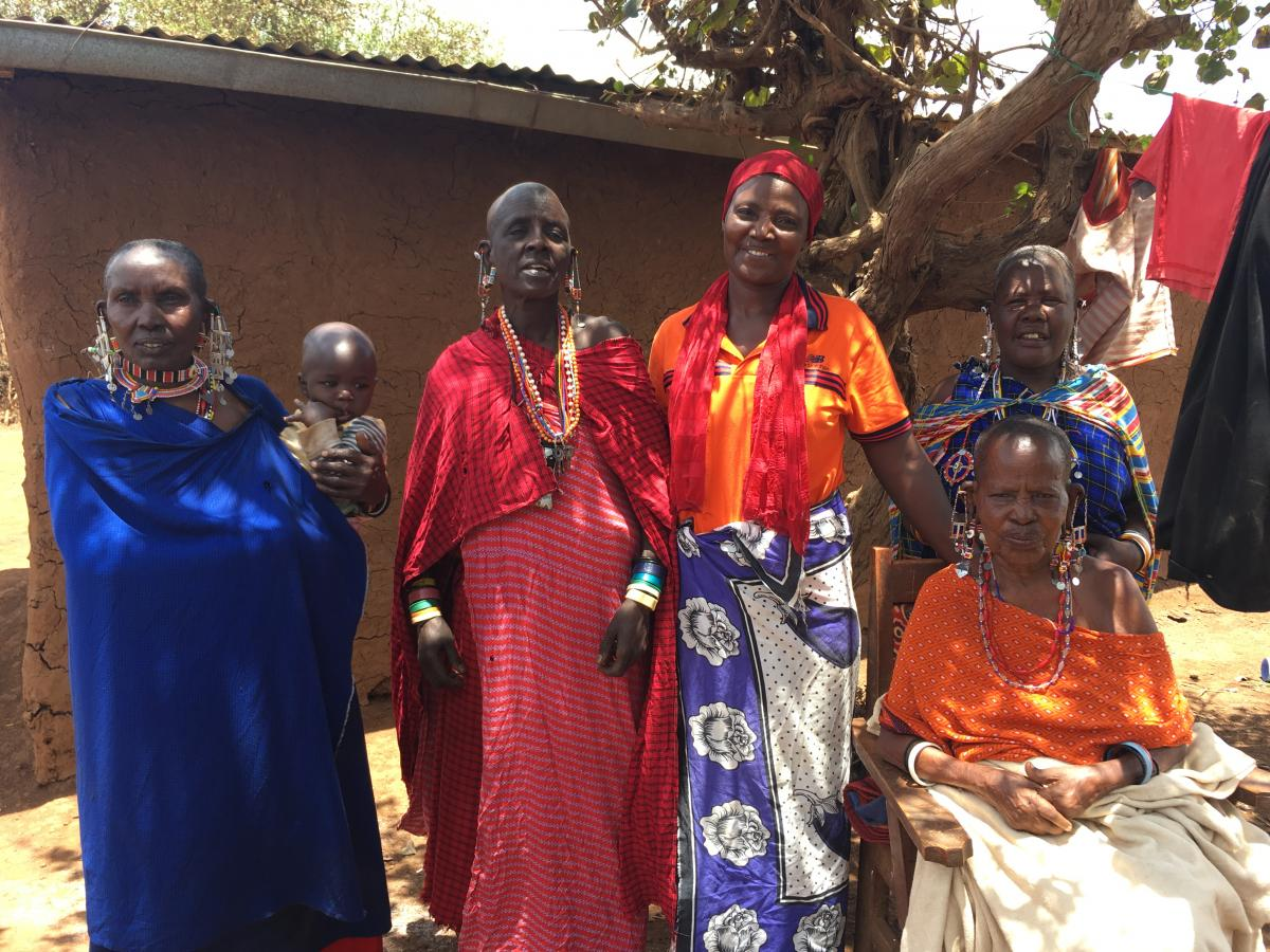 Some of the women from the Nasarunoi Women's group
