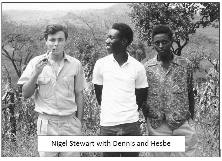 Nigel Stewart with Dennis and Hesbe