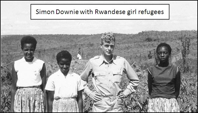 Rwandese girl refugees