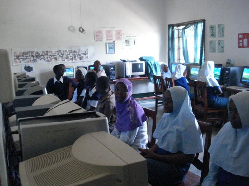 First class in computer lab