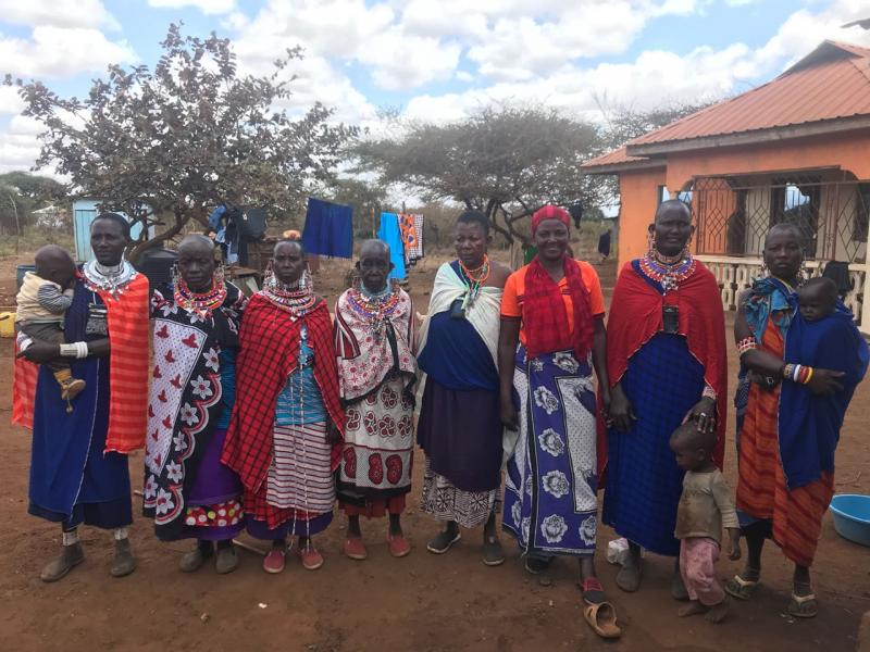 Group of Maasai women
