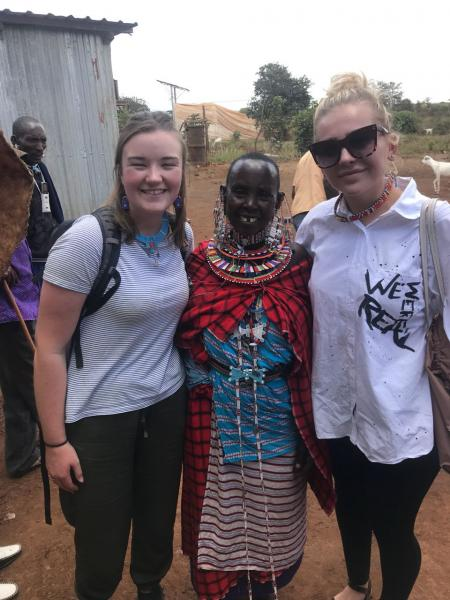 Stood with a Maasai women who gave us some beautiful beads