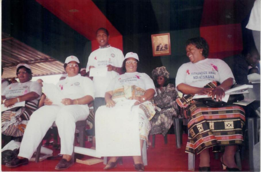 With Dr. Joyce Banda (who later became President of Malawi) in Mangochi Malawi during International HIV/AIDS Day in December 2005