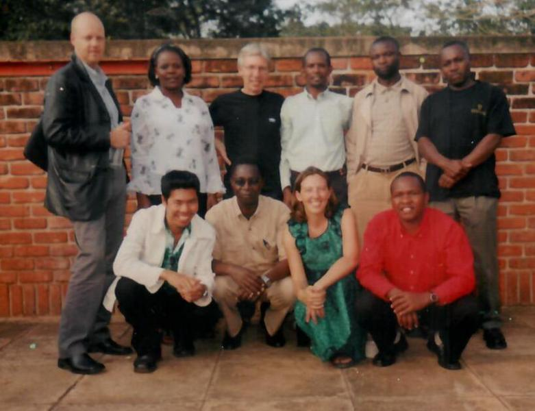The VSO Volunteers in 2004 with VSO Program Officer Steve Morris