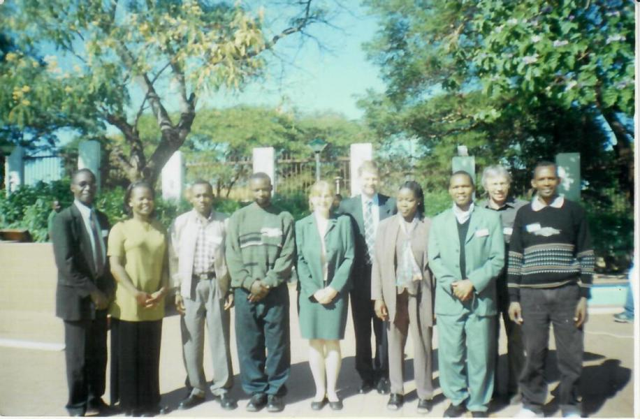 With British Ambassador to Malawi in 2004 H.E. David Pearly