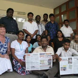 Fiona on placement in Sri Lanka