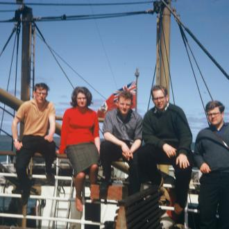 Mike Dubar, Wendy Hadfield, Brian Webster, Paul Gripton (RIP), Jim McClure, on RMS Amazon