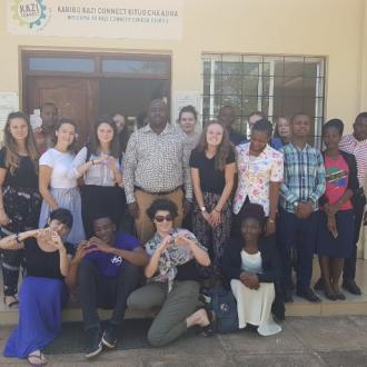 The team outside the Kazi Connect office